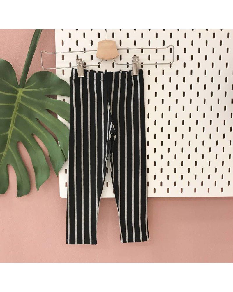 Petit Blush Legging Jersey Grey Striped