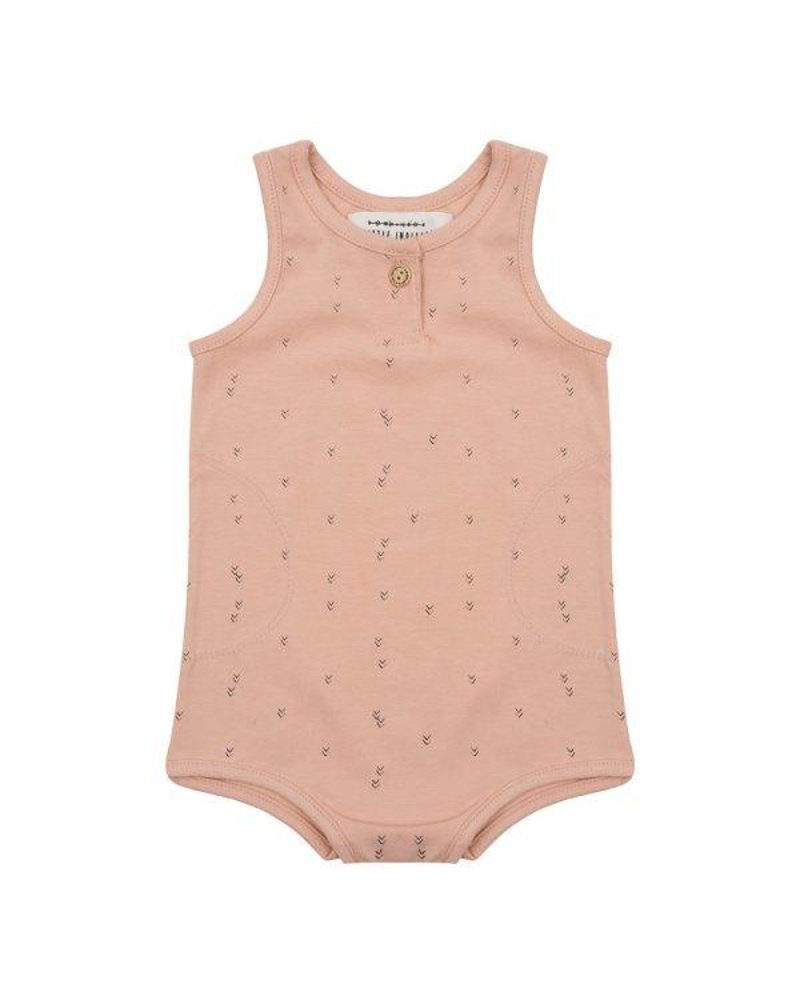 Little Indians Romper Small Arrow - Coral