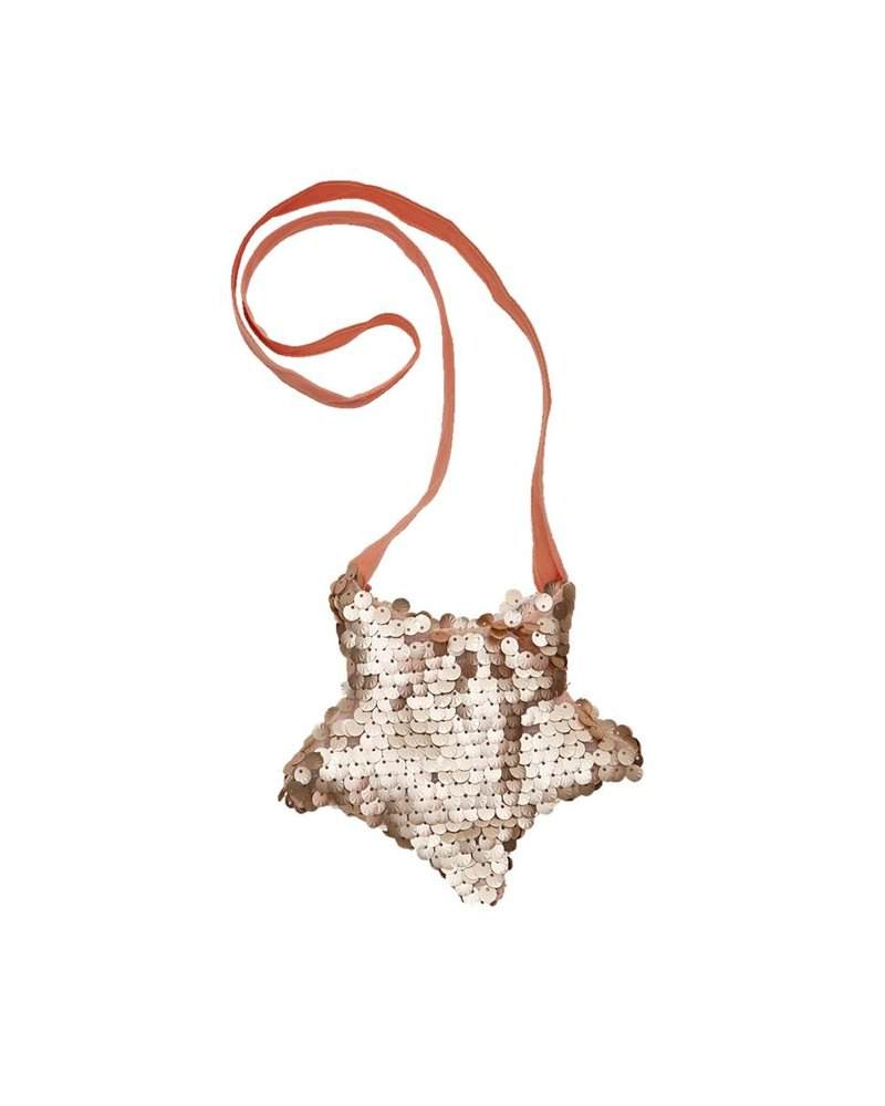 IGLO + INDI Gold Rose Sequin Bag