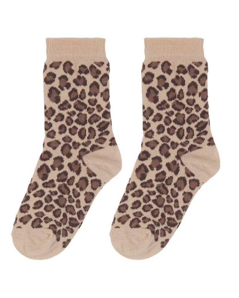 House of Jamie Socks - Caramel Leopard