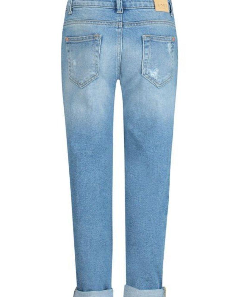 Boof Puffin Retro Blue - Girl Boyfriend jeans