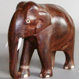 Elephant, Eastindian Rosewood, 100 mm