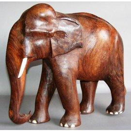 Elefant aus Ostindisch Palisander, 130 mm