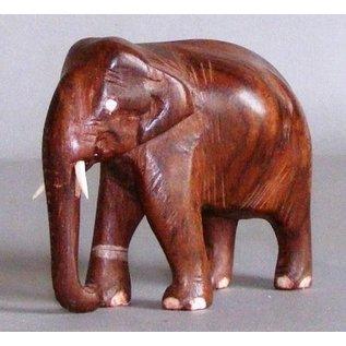 Elefant aus Ostindisch Palisander, 75 mm