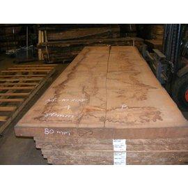 Afzelia - Doussie Tischplatte, 450 x 68/69 x 0,80 cm, künstlich getrocknet, besäumt
