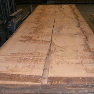 Afzelia Tischplatte, 450 x 68/69 x 0,80 cm, künstlich getrocknet, besäumt