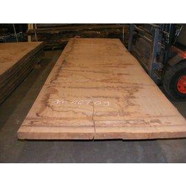 Afzelia - Doussie Tischplatte, 450 x 135 x 0,55 cm, künstlich getrocknet, besäumt
