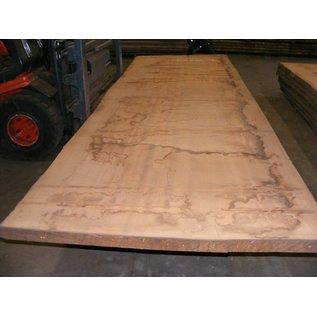 Afzelia Tischplatte, 450 x 135 x 0,55 cm, künstlich getrocknet, besäumt
