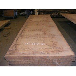 Afzelia - Doussie Tischplatte, 450 x 133 x 0,55 cm, künstlich getrocknet