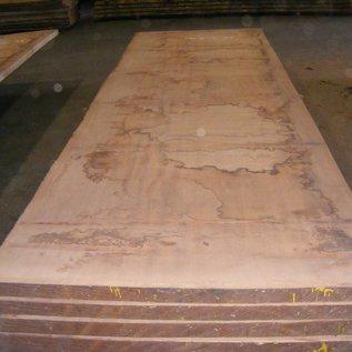 Afzelia - Doussie, tabletop, 450 x 133 x 0,55 cm, kiln dried, both sides cut