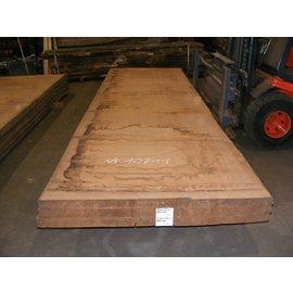 Afzelia - Doussie Tischplatte, 450 x 131 x 0,55 cm, künstlich getrocknet, besäumt