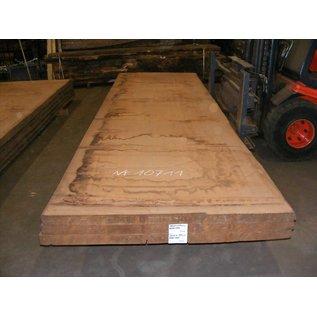 Afzelia - Doussie, tabletop, 450 x 131 x 0,55 cm, kiln dried, both sides cut