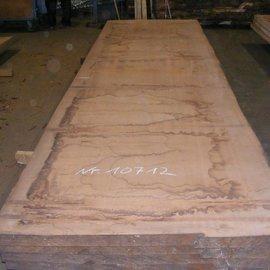 Afzelia  Tischplatte, 450 x 128 x 0,55 cm, künstlich getrocknet, besäumt