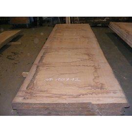 Afzelia - Doussie Tischplatte, 450 x 128 x 0,55 cm, künstlich getrocknet, besäumt
