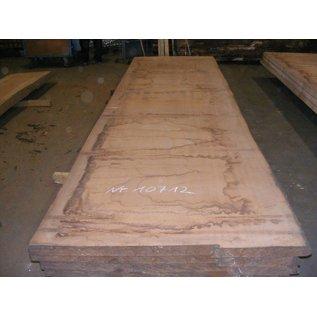 Afzelia - Doussie, tabletop, 450 x 128 x 0,55 cm, kiln dried, both sides cut