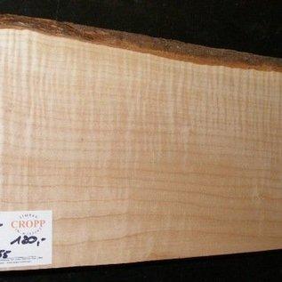 Softmaple, tief geflammt, 555 x 195 x 55 mm, 3,7 kg