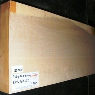 Ahorn, RIEGELAHORN, Gitarrenkorpus, 550 x 260 x 53 mm, 4,9 kg