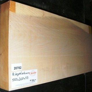 Sycamore, fiddleback, Guitar-Body, 550 x 260 x 53 mm, 4,9 kg