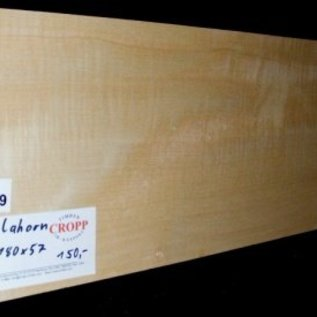 Sycamore, fiddleback, Guitar-Body, 550 x 180 x 57 mm, 3,9 kg