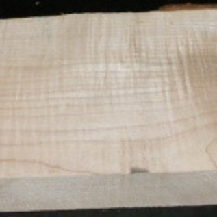 Sycamore fiddleback, Guitar-Body, 540 x 215 x 50 mm, 5,6 kg