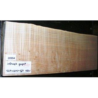 """Ahorn, amerik. SPITZAHORN, """"Soft Maple"""", geriegelt, 565 x 205 x 57 mm,  3,7  kg, Acer macrophyllum"""