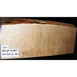 """Ahorn, amerik. SPITZAHORN, """"Soft Maple"""", geriegelt, 564 x 221 x 57 mm, 4,7  kg, Acer macrophyllum"""