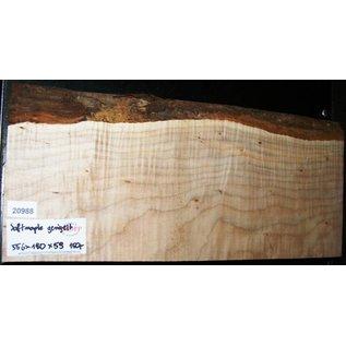 """Ahorn, amerik. SPITZAHORN, """"Soft Maple"""", geriegelt, 556 x 190 x 58 mm, 4,3  kg, Acer macrophyllum"""