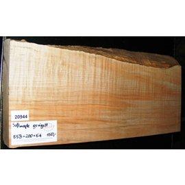 """Ahorn, amerik. SPITZAHORN, """"Soft Maple"""", geriegelt, 558 x 200 x 54 mm, 3,9  kg"""