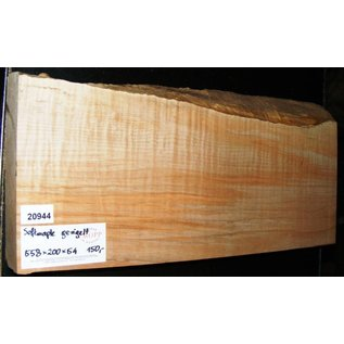 Soft Maple, fiddleback, guitar body, 558 x 200 x 54 mm, 3,9 kg