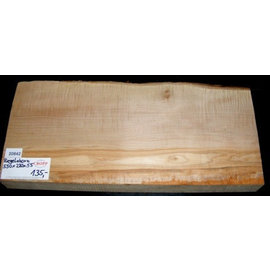 Sycamore, fiddleback, guitar body, 550 x 220 x 55 mm, 5,6 kg
