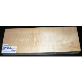 Sycamore, fiddleback, guitar body, 550 x 200 x 50 mm, 5,2 kg, worm