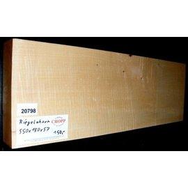 RIEGELAHORN, Gitarrenkorpus, 550 x 180 x 57 mm, 4 kg