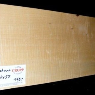 Sycamore, fiddleback, guitar body, 550 x 180 x 57 mm, 4 kg