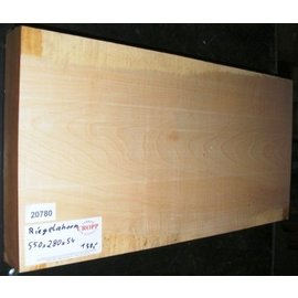 Sycamore, fiddleback, guitar body, 550 x 280 x 54 mm, 5,4 kg