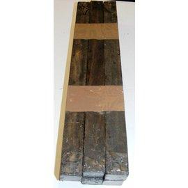 Ebony black / stripy 30 x 30 x 300 - 400 mm