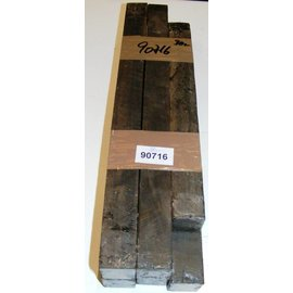 Ebenholz schwarz / streifig 30 x 30 x 300 - 400 mm / 6 Stück pro Set