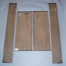 Ziricote, Böden und Zargen Set, spiegelbildlich, 1,6 kg