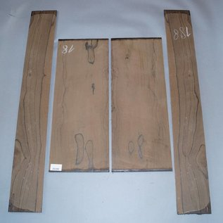 Ziricote, Böden und Zargen Set, spiegelbildlich, 1,6 kg, Einschnitt 2015