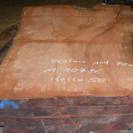 Platane Tischplatte, gedämpft, 2800 x 1920/1300 x 80 mm