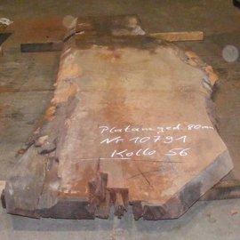 Platane Tischplatte, gedämpft, 2800 x 880/670 x 80 mm
