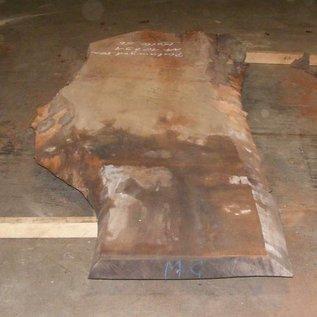 Platane Tischplatte, gedämpft, 2800 x 880/670 x 80 mm, ca. 150 kg