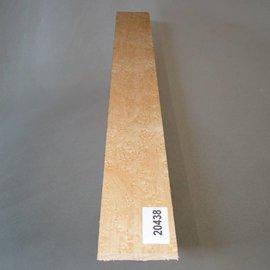 VOGELAUGENAHORN, Griffbrett, 520 x 60 x 10 mm, 0,3 kg, künstlich getrocknet