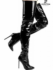 Giaro ELEGANCE 1004 | BLACK SHINY | THIGH HIGH BOOTS