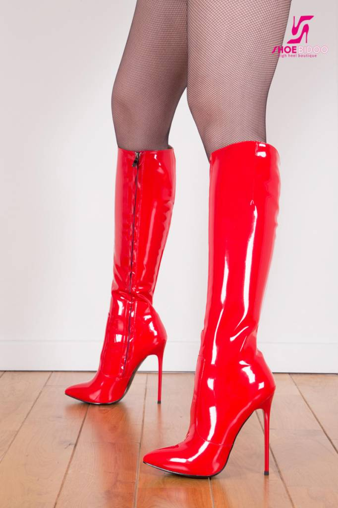 "Giaro Red shiny Giaro ""Elegance"" knee boots"