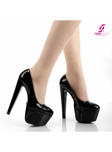 Giaro DES 1001 | BLACK SHINY | PLATFORM PUMPS