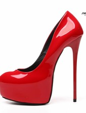 "Giaro Red shiny Giaro ""Galana"" platforms pumps"