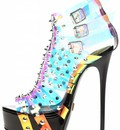"""Giaro EXPECTED:  Multi transparant """"Galana"""" designer ankle boots"""