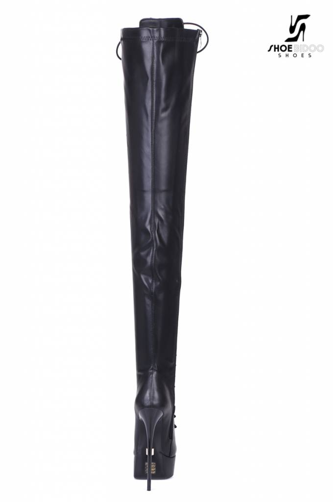 """Giaro Black lace-up ultra """"Galana"""" thigh boots PRE-ORDER"""