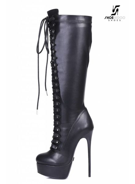 "Giaro Black lace-up ultra ""Galana"" knee boots PRE-ORDER"