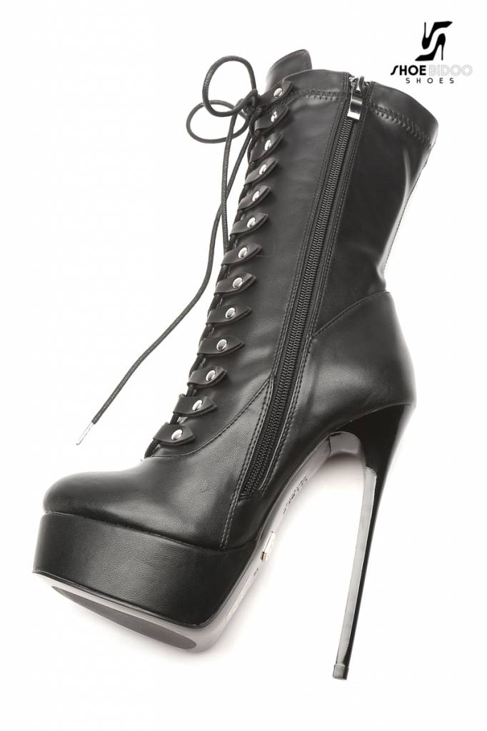 """Giaro Black lace-up ultra """"Galana"""" ankle boots PRE-ORDER"""